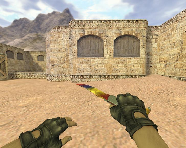 «Нож Фальшион Мраморный градиент» для CS 1.6