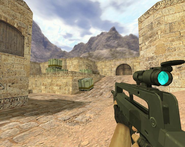 «Famas Синяя оптика» для CS 1.6