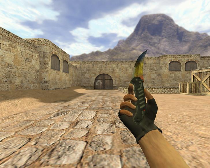 «Складной нож Мраморный градиент» для CS 1.6