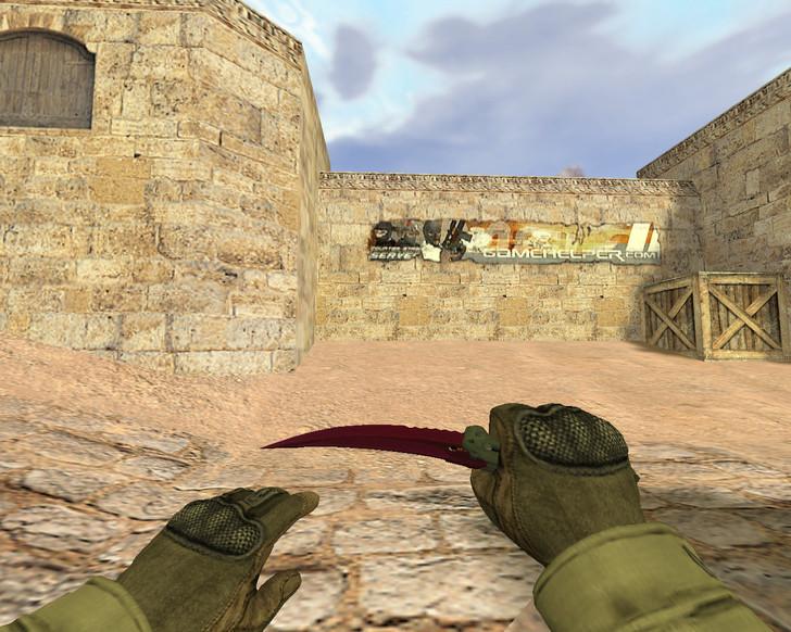 «Складной нож Ультрафиолет» для CS 1.6