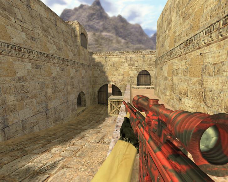 «G3SG1 в красном камуфляже» для CS 1.6