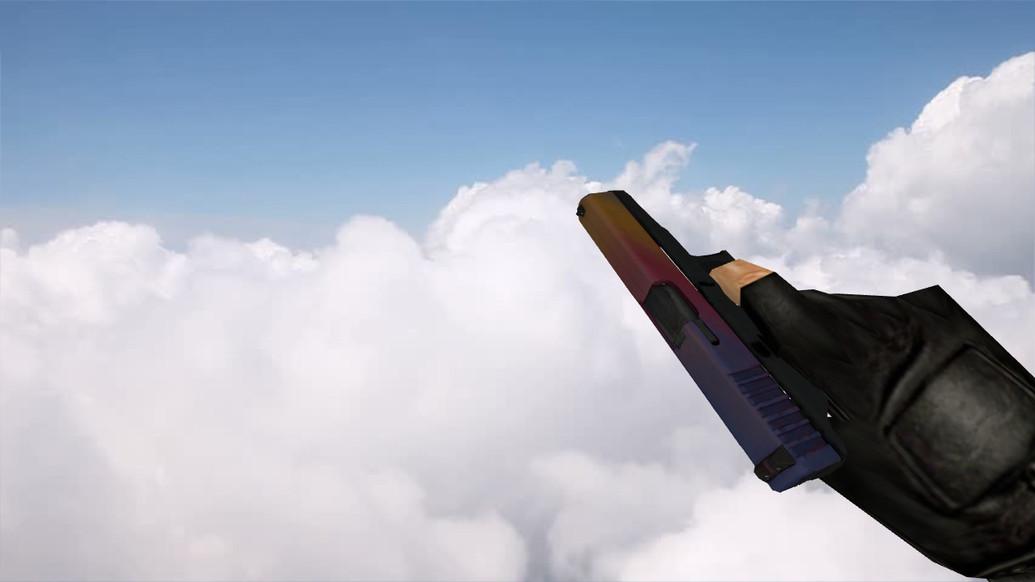 «Glock «Градиент» с наклейками» для CS 1.6