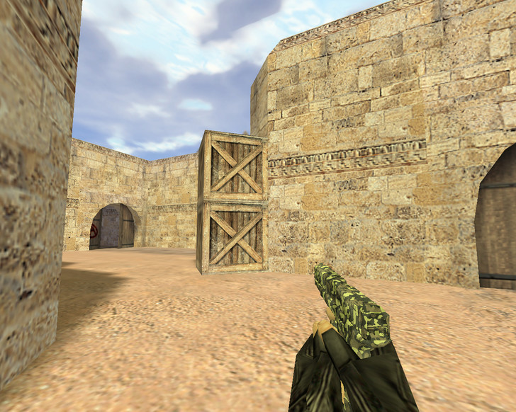 «Glock Армейский камуфляж» для CS 1.6