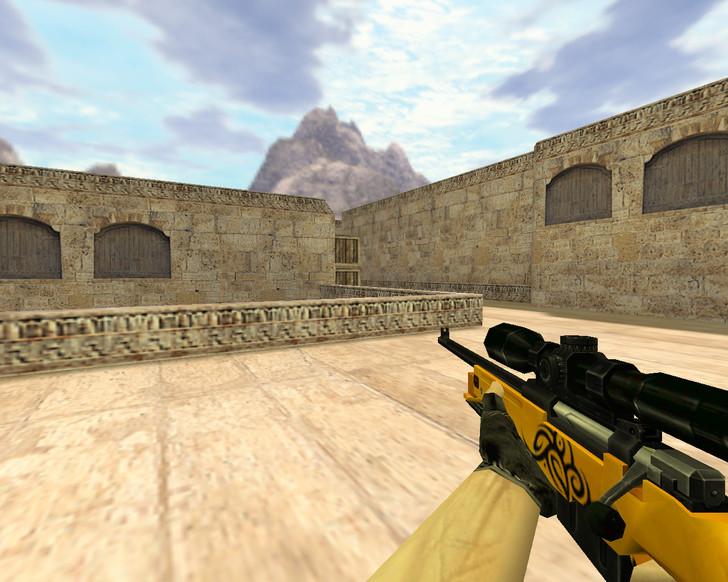 «AWP Золотой» для CS 1.6