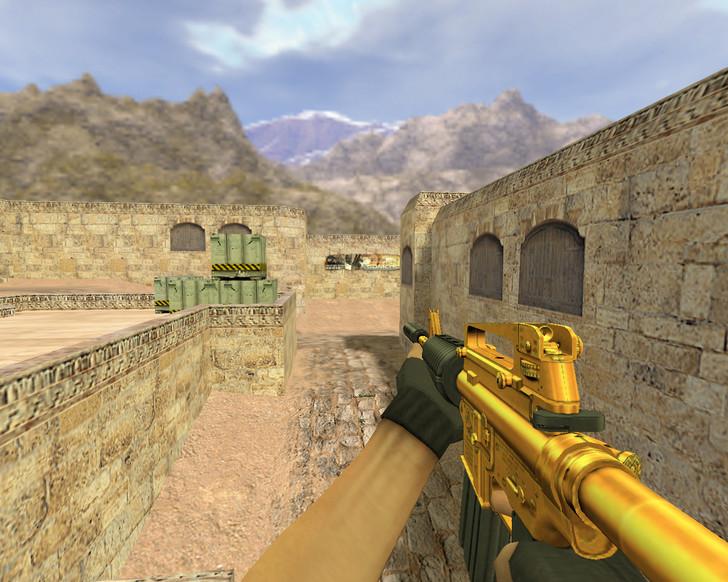 «М4А1 Золотой» для CS 1.6