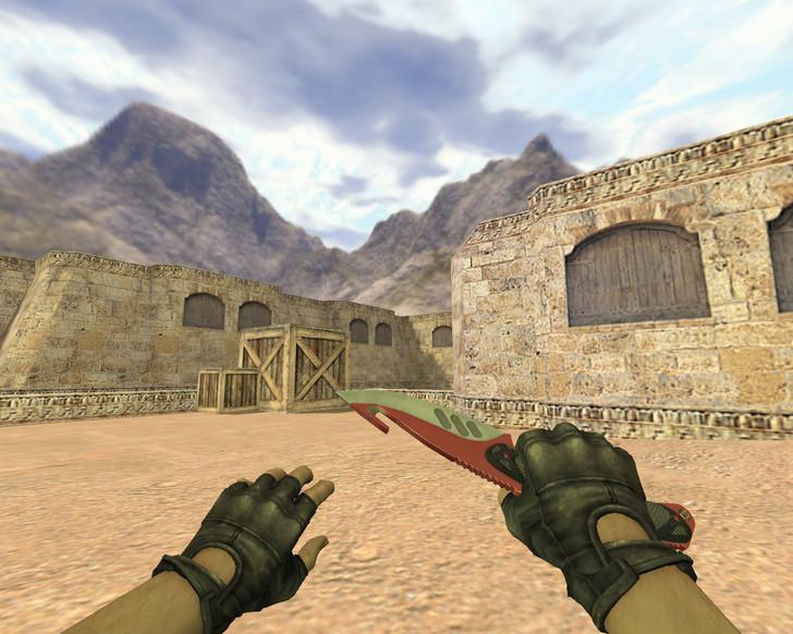 «Нож с лезвием-крюком Автотроника» для CS 1.6