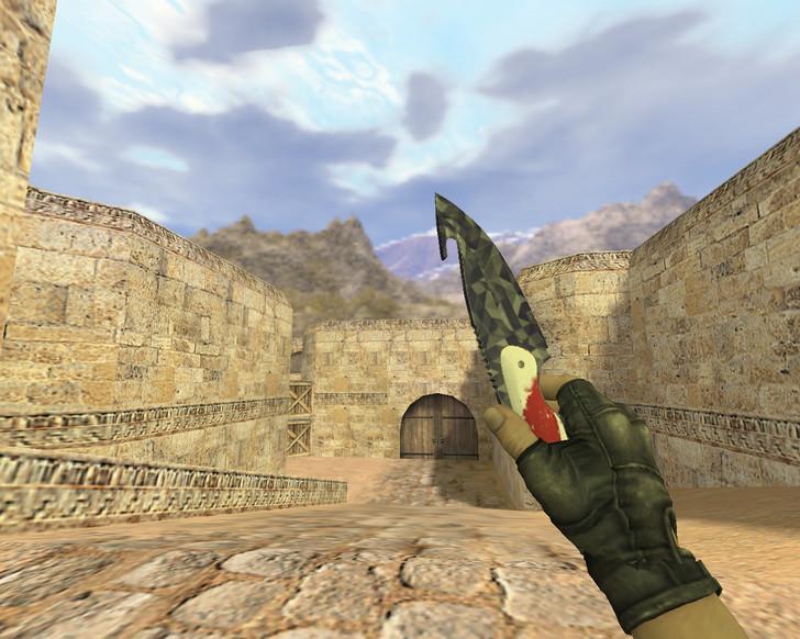 «Нож с лезвием-крюком Черная призма» для CS 1.6