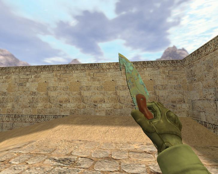 «Нож с лезвием-крюком Поверхностная закалка» для CS 1.6