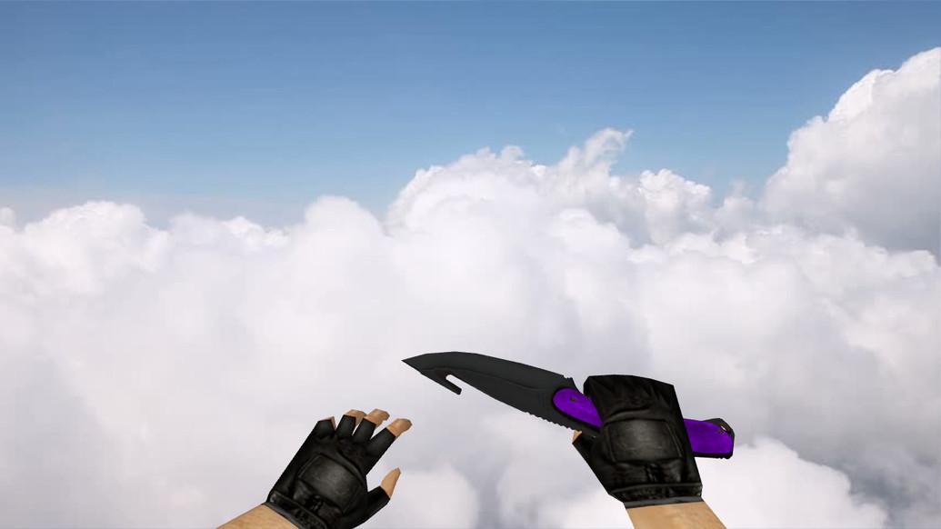 «Нож с лезвием-крюком «Ультрафиолет»» для CS 1.6