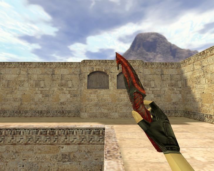 «Нож с лезвием-крюком Вампир» для CS 1.6