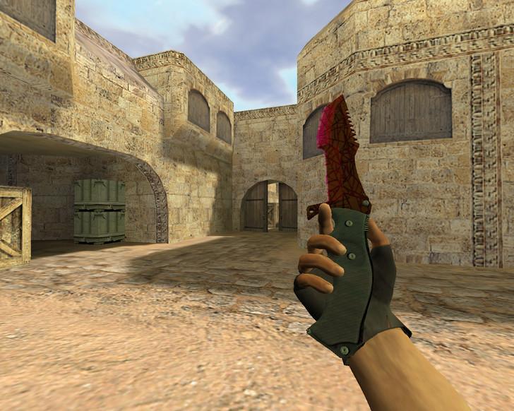 «Охотничий нож Кровавая паутина» для CS 1.6