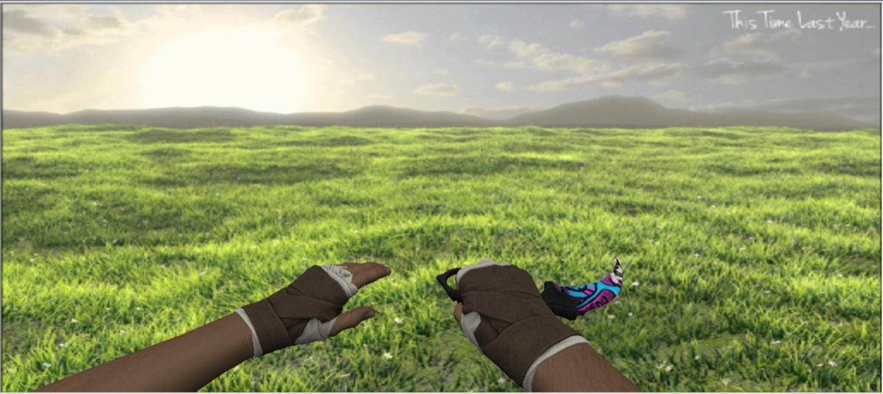«Керамбит | Горячие грезы + «Обмотки рук | Кожа»» для CS 1.6