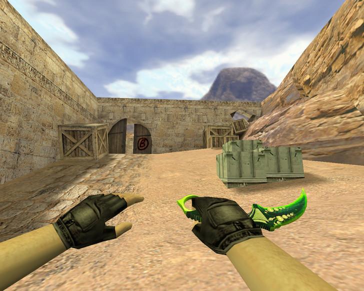 «Керамбит Зеленый мечтатель» для CS 1.6