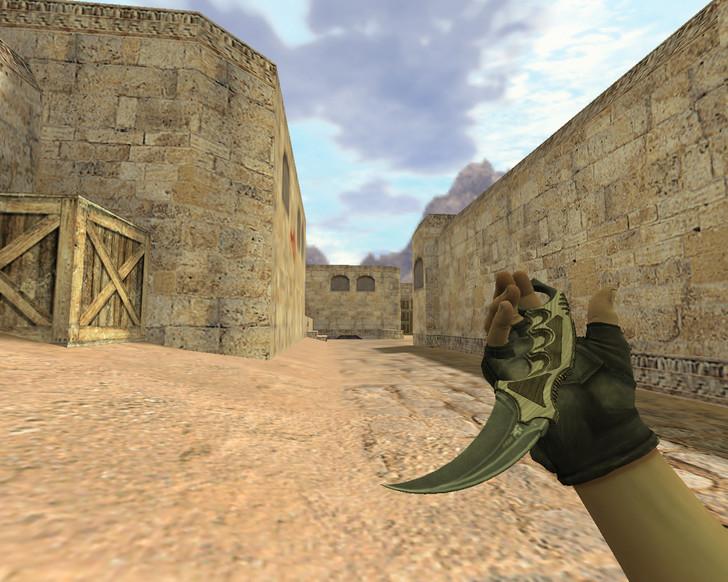 «Нож Керамбит Черный глянец» для CS 1.6