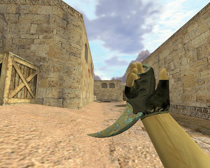 «Нож Керамбит Поверхностная закалка» для CS 1.6