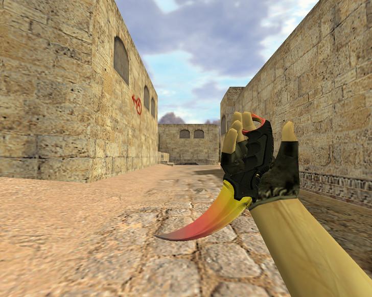 «Нож Керамбит Градиент» для CS 1.6
