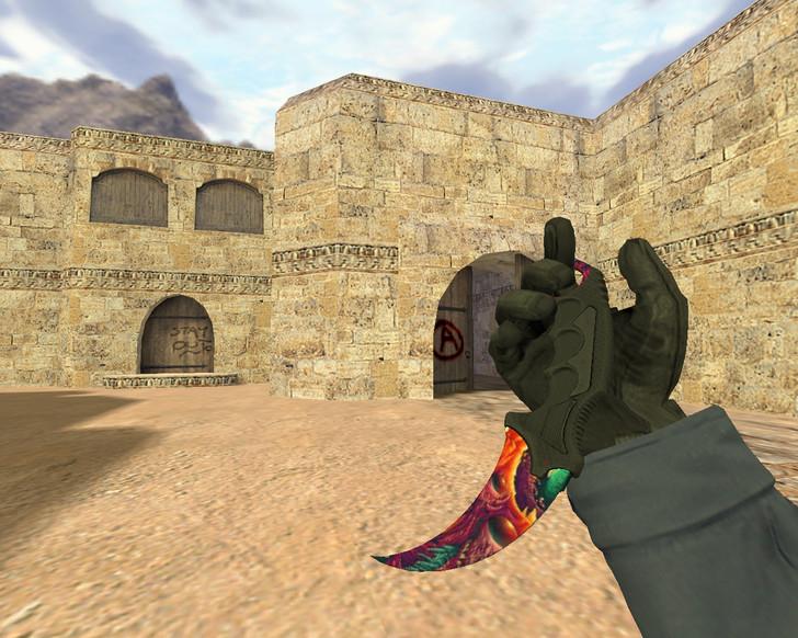 «Нож Керамбит Скоростной зверь» для CS 1.6