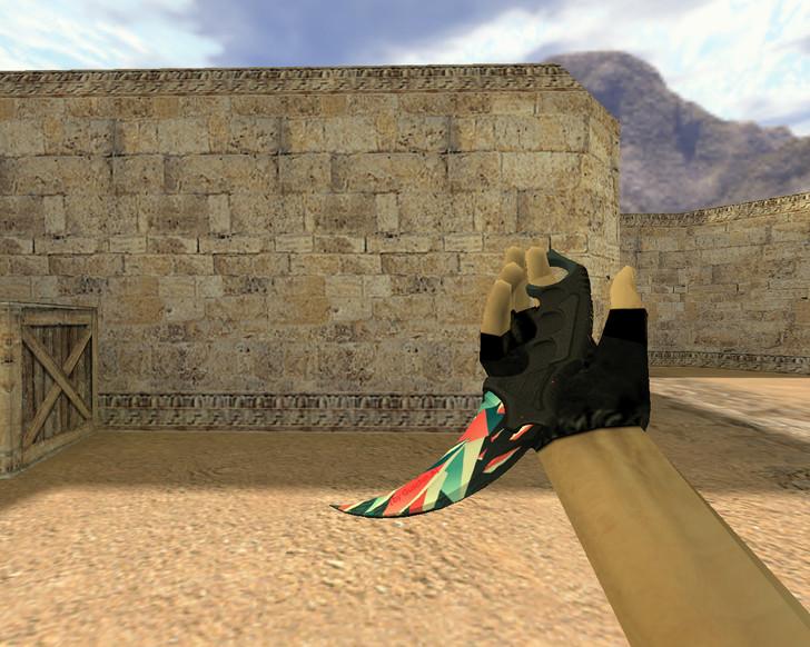 «Нож Керамбит Буйство красок» для CS 1.6