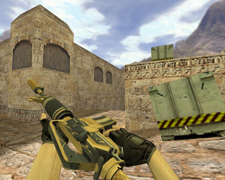 «М4А1 Золотая спираль» для CS 1.6