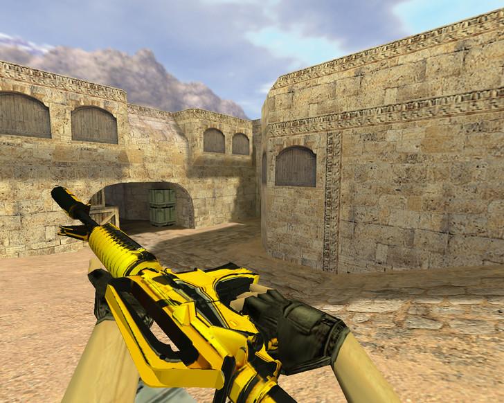 «М4А1 Желтый жакет» для CS 1.6