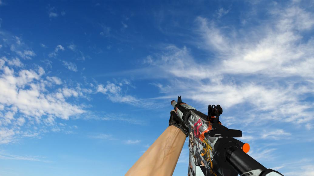 «M4A4 «Азимов» Поношенное» для CS 1.6