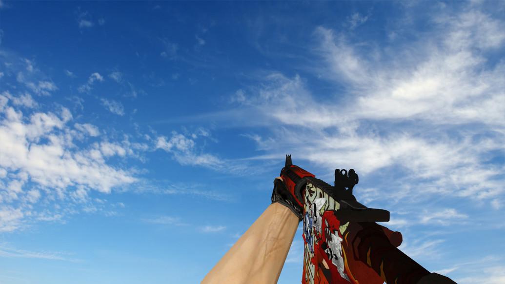 «M4A4 «Адское пламя» стикеры» для CS 1.6