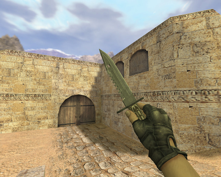 «Штык-нож М9 Черный глянец» для CS 1.6