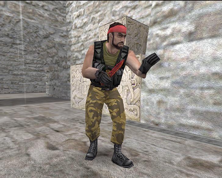 «Штык-нож М9 «Чанг» + «Перчатки спецназа | Кровавое кимоно»» для CS 1.6