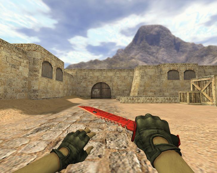 «Штык-нож М9 Кровавая паутина» для CS 1.6