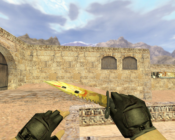 «Штык-нож М9 Драгон лор» для CS 1.6