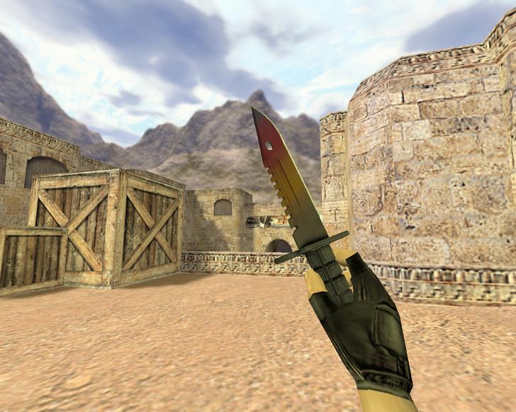 «Штык-нож М9 Градиент» для CS 1.6