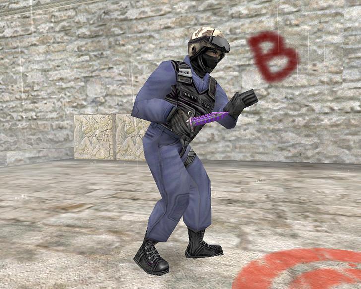 «Штык-нож М9 «Лазерный резак» + «Спортивные перчатки   Ящик Пандоры»» для CS 1.6