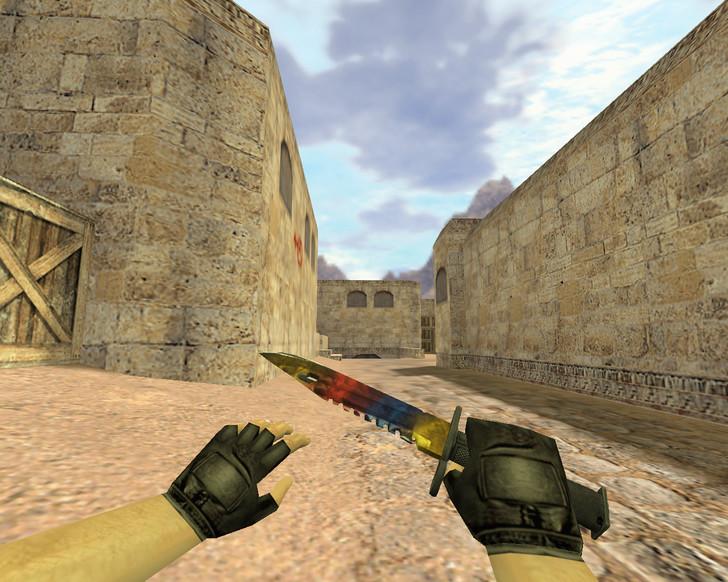 «Штык-нож М9 Мраморный Градиент» для CS 1.6