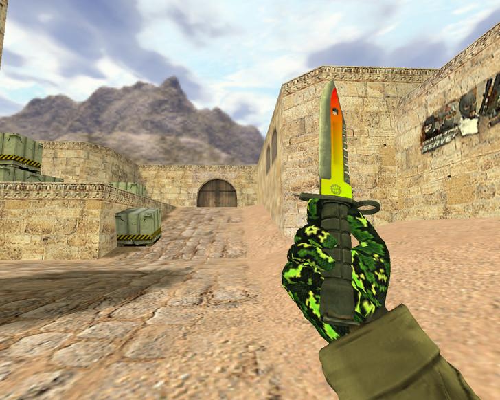 Штык-нож М9 Неоновый свет
