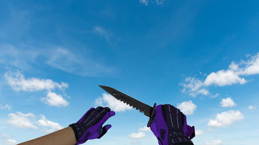 «Штык-нож M9 «Ультрафиолет»» для CS 1.6
