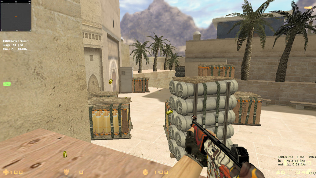 «MP5 Hellfire» для CS 1.6
