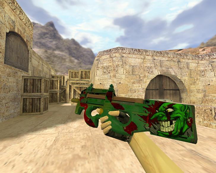«P90 Зеленый гоблин» для CS 1.6