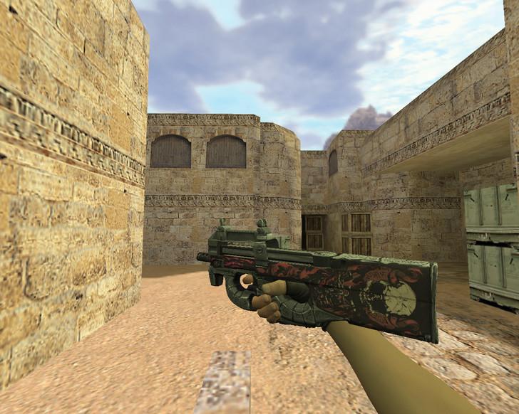 «P90 Неглубокая могила» для CS 1.6