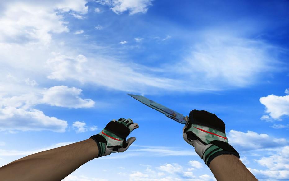 «☆ Паракорд-нож | Поверхностная закалка (403 паттерн Blue Gem)» для CS 1.6