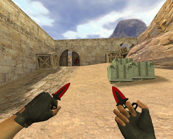«Тычковые ножи Кровавая паутина» для CS 1.6