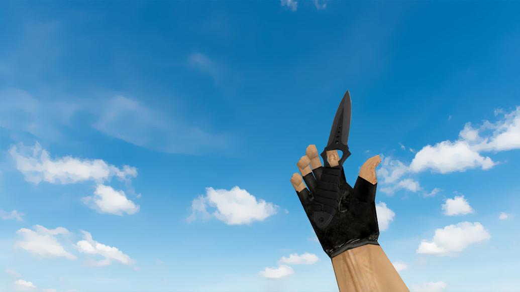 «Skeleton Knife Vanilla on Default Hands» для CS 1.6