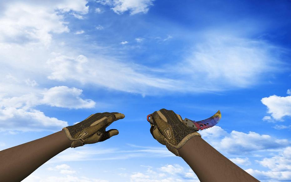 «Пак со спортивными перчатками