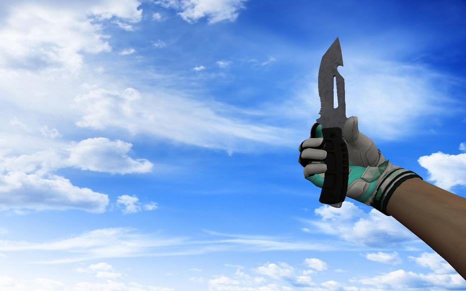 «☆ Нож выживания | Вороненая сталь» для CS 1.6