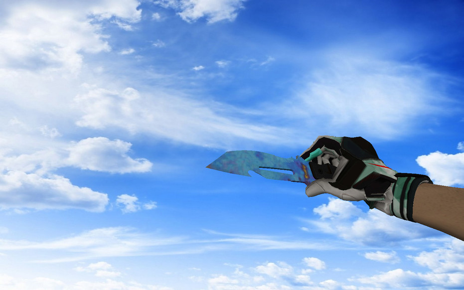 «☆ Нож выживания | Поверхностная закалка (403 паттерн Blue Gem)» для CS 1.6