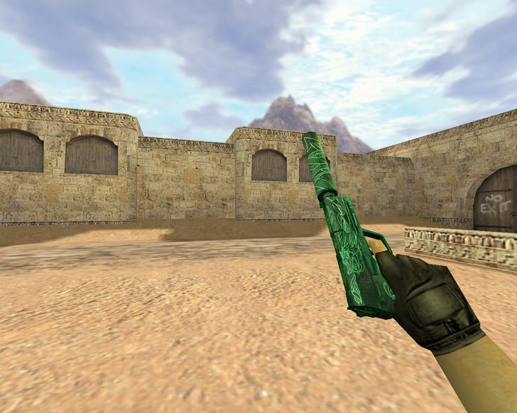«USP Зеленый дракон» для CS 1.6