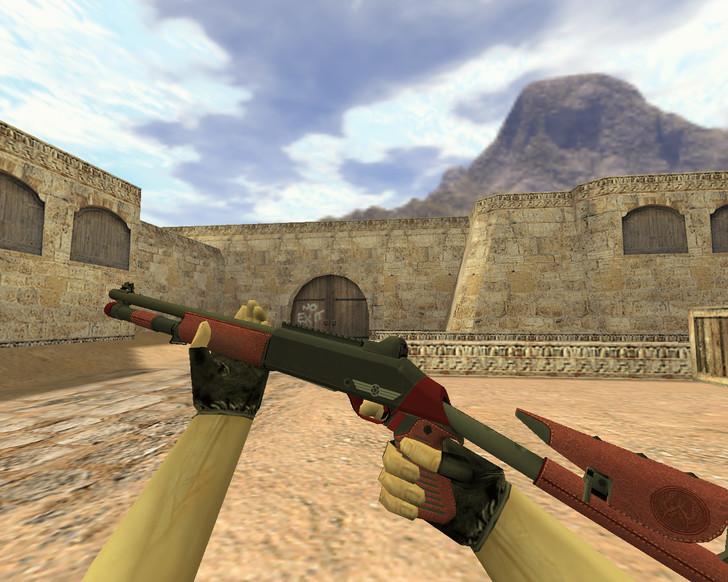 «XM1014 Красная кожа» для CS 1.6