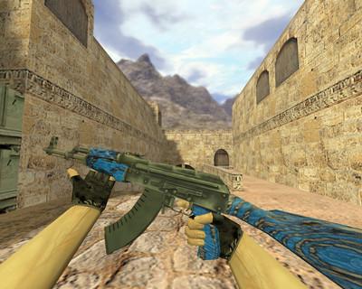АК-47 Синий ламинат