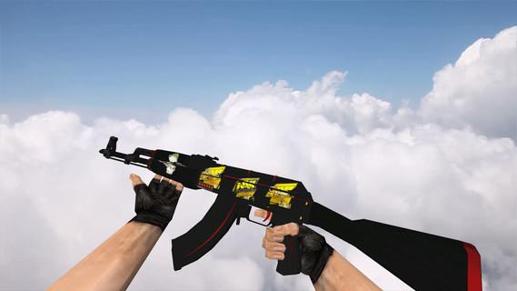 АК-47 «Красная линия» с наклейками