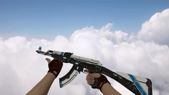 AK-47 Sci Fi Blue