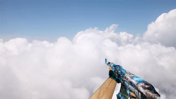 AK47 Blue Bones